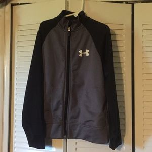 Boys Under Armour zip up track jacket